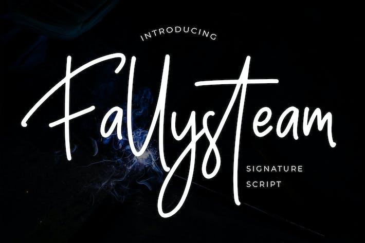 Police de script de signature Fallysteam