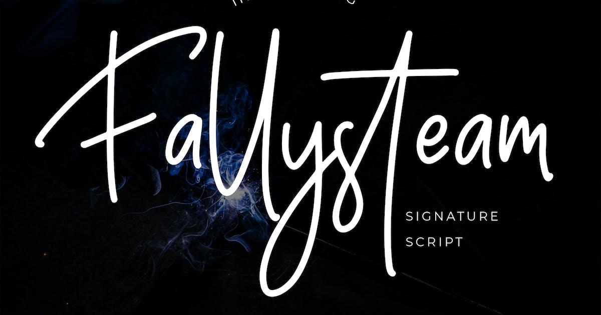 Download Fallysteam Signature Script Font by Formatika