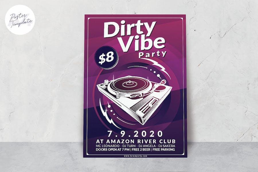 DJ Box Poster Template