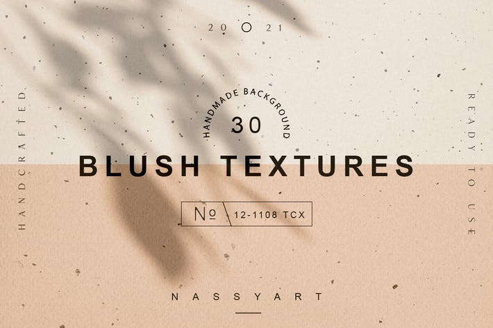 Thumbnail for 30 Blush Craft Paper Textures