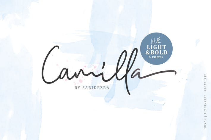 Thumbnail for Camilla - Signature Script (6 Fonts)
