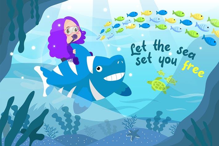Thumbnail for Let the You Free - Vector Illustration