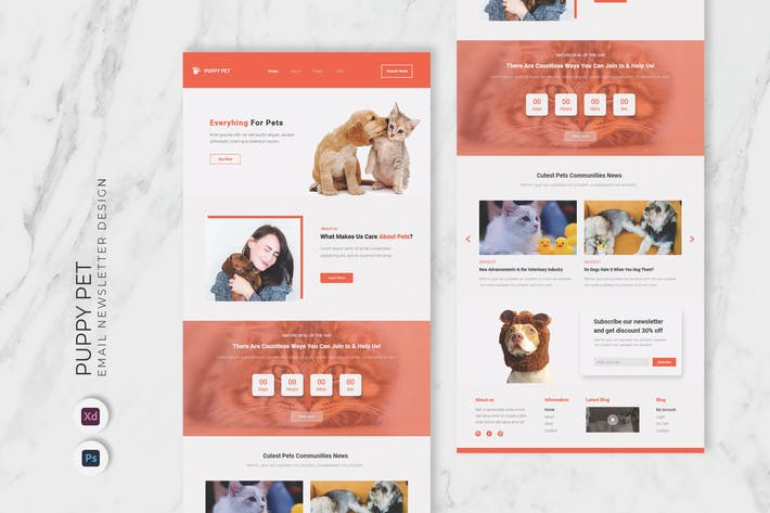 Puppy Pet Email Newsletter