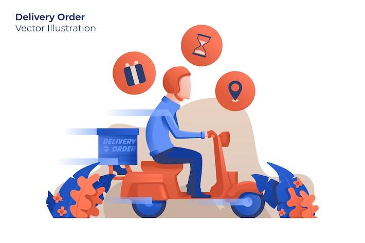 Заказ доставки - Вектор иллюстрация