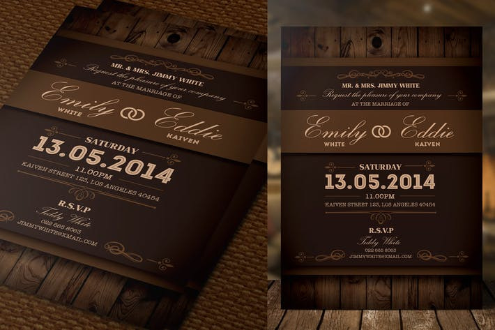 Thumbnail for Rustic Wedding Invitation