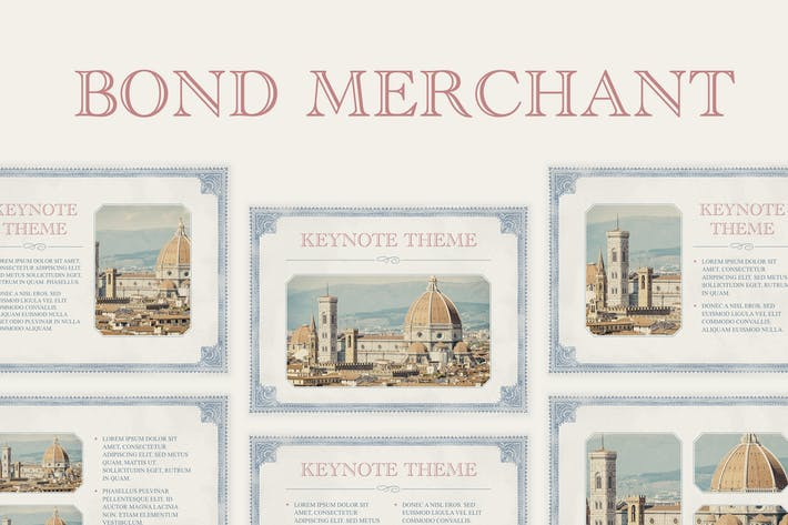 Thumbnail for Bond Merchant Keynote Template
