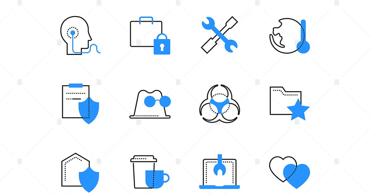 Download Technology and legal services color icons set by BoykoPictures