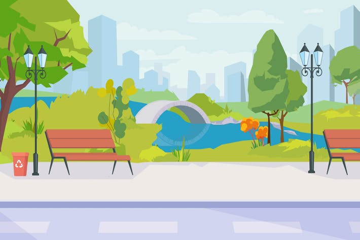 Thumbnail for A Park - Illustration Background