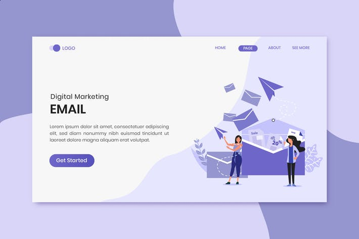 Thumbnail for Email Marketing Landing Page