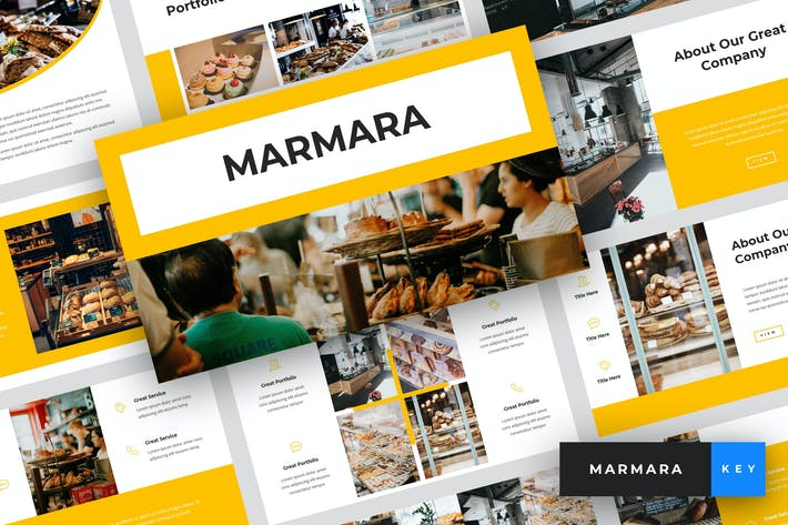 Thumbnail for Marmara - Bakery Keynote Template