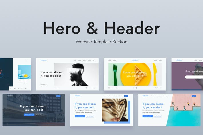 Web Hero Header Template
