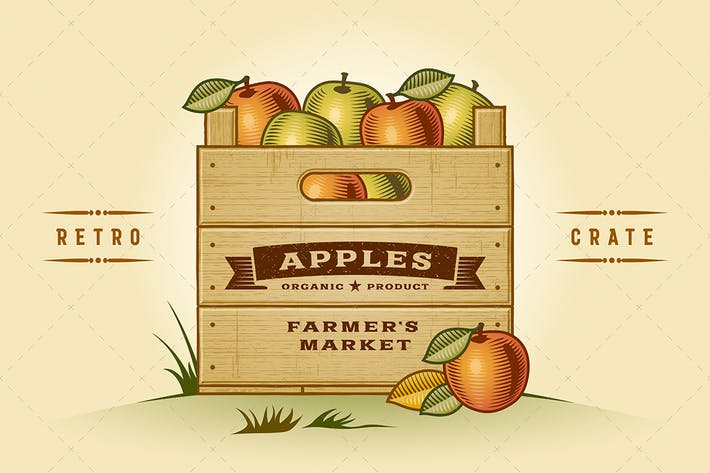 Thumbnail for Retro Crate Of Apples