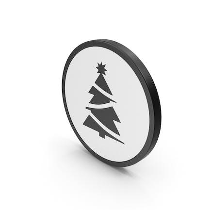 Árbol de Navidad con icono