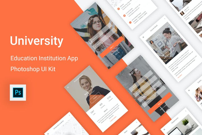 Thumbnail for University - Education & Learning Photoshop UI Kit