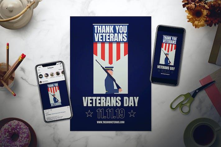 Thumbnail for Veterans Day Flyer Set