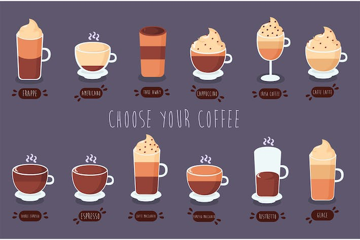 Thumbnail for Coffee Types Illustration Pack