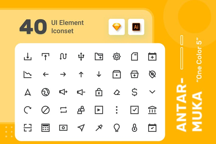 Thumbnail for Antarmuka - UI Element Iconset - One  Color 5