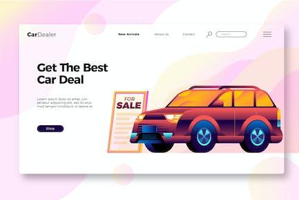 Car Dealership - Banner and Landing Page