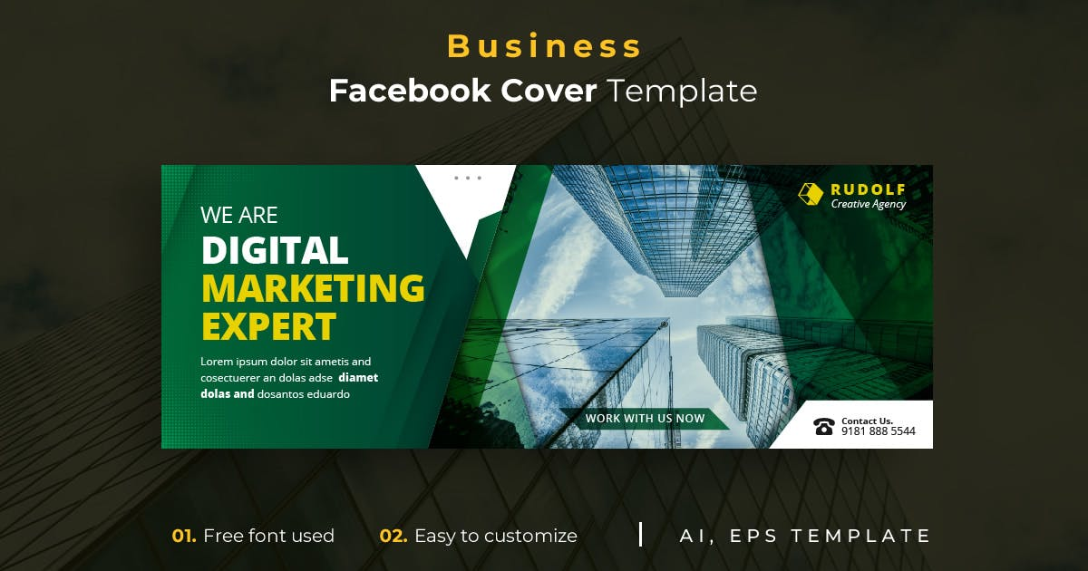 Download Business r33  Facebook Cover Template by youwes