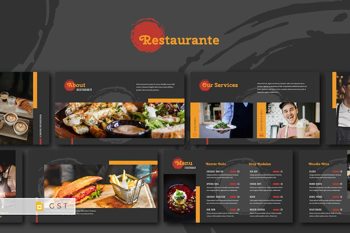 Thumbnail for RESTAURANTE - Food and Beverages Google Slides Tem