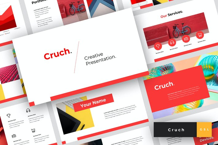 Thumbnail for Cruch - Creative Google Slides Template