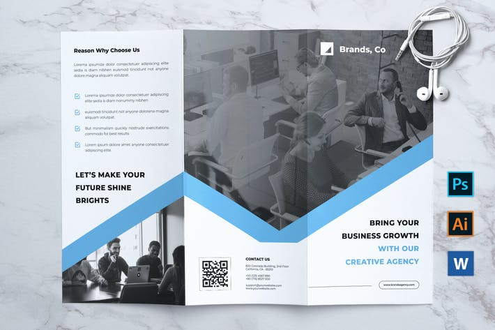 Thumbnail for BRANDS Professional Business Trifold Flyer