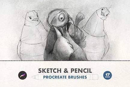 Sketch & Pencil Procreate Brushes