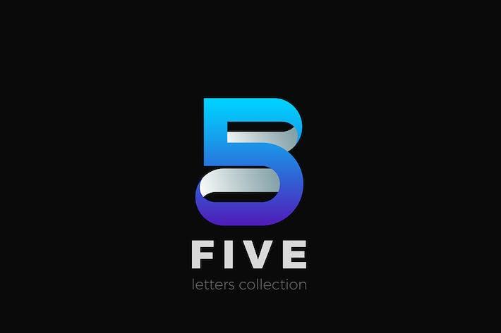 Thumbnail for Numéro 5 Cinq conception style ruban 3D