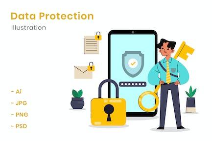 Datenschutz-Illustration