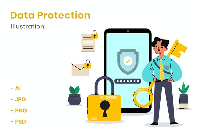 Thumbnail for Data Protection Illustration