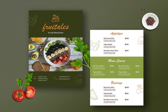 Cover Image For Restaurant Menu Template