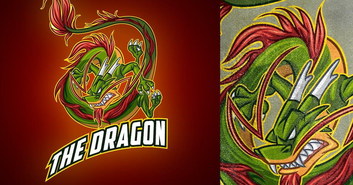 Download Cartoon Classic Chinese Dragon Mascot Esports Logo by Suhandi