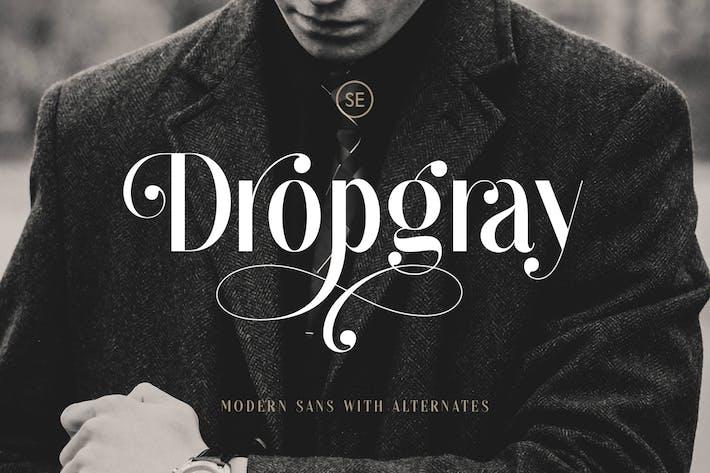 Thumbnail for Dropgray - A Stylish Sans