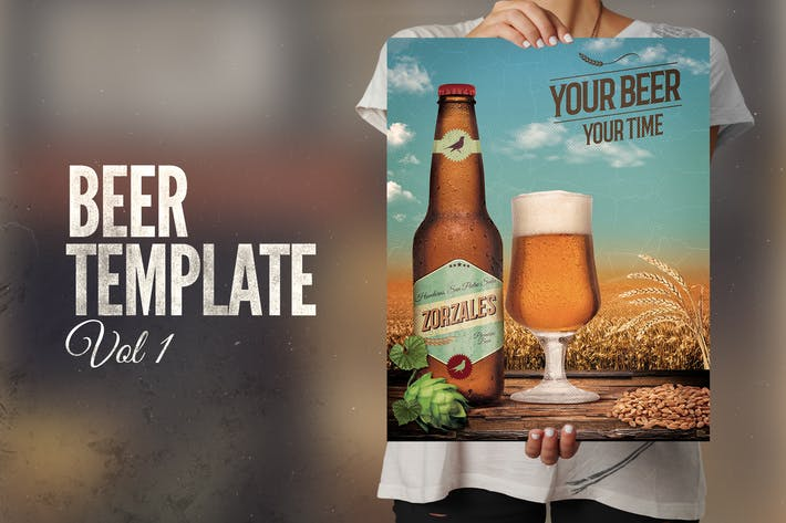 Thumbnail for Beer template and beer label