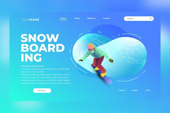 Thumbnail for SnowBoarding Web Header Vector Template