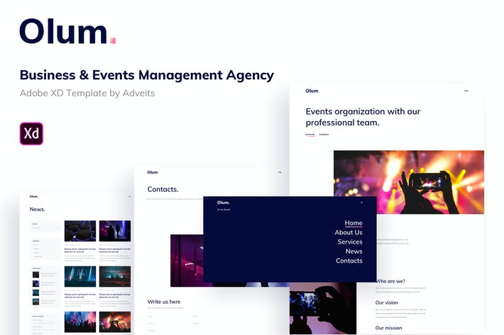 Olum - Business & Events Management Agency Adobe X