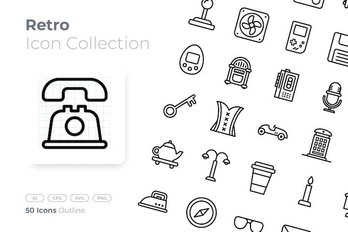 Thumbnail for Retro Outline Icon