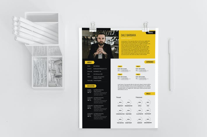 Thumbnail for Modern Resume Set Template