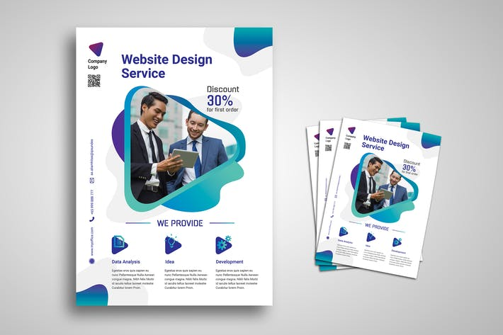 Thumbnail for Web Design Agency Promo Flyer