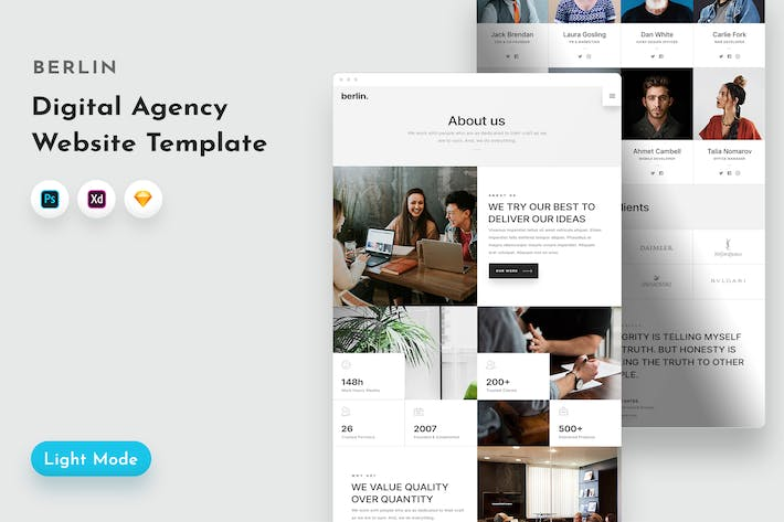 Thumbnail for Berlin Agency Template