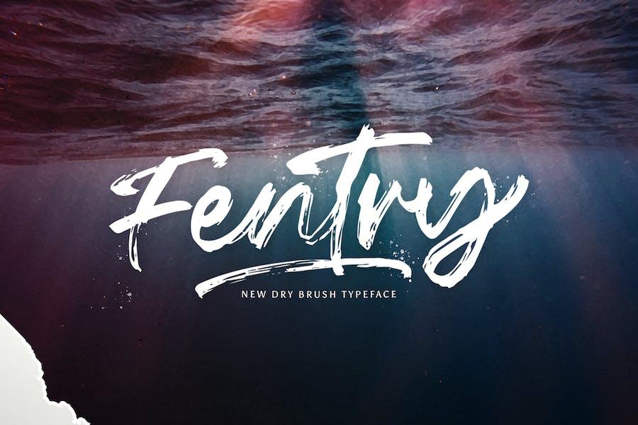 Fentry - Fuente de pincel texturizado