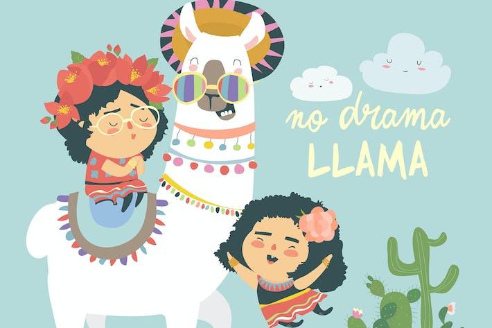 Thumbnail for Divertida llama alpaka con chicas mexicanas lindas. No hay Dra.