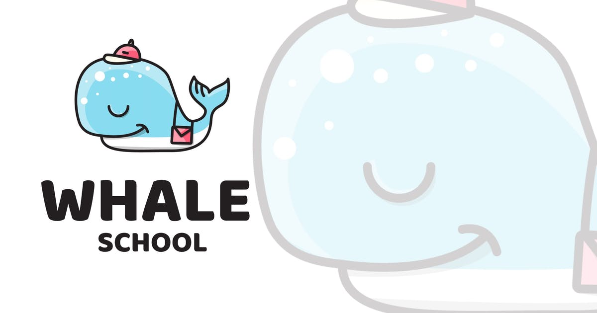 Download Whale School Cute Logo Template by IanMikraz