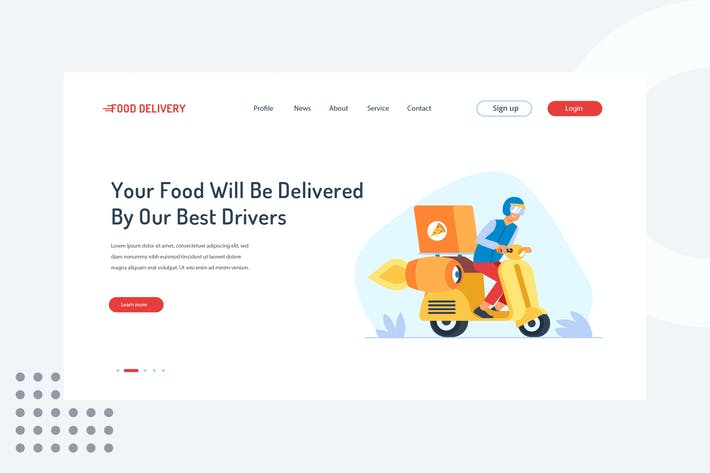 Thumbnail for Your food will be delivered by our best drivers