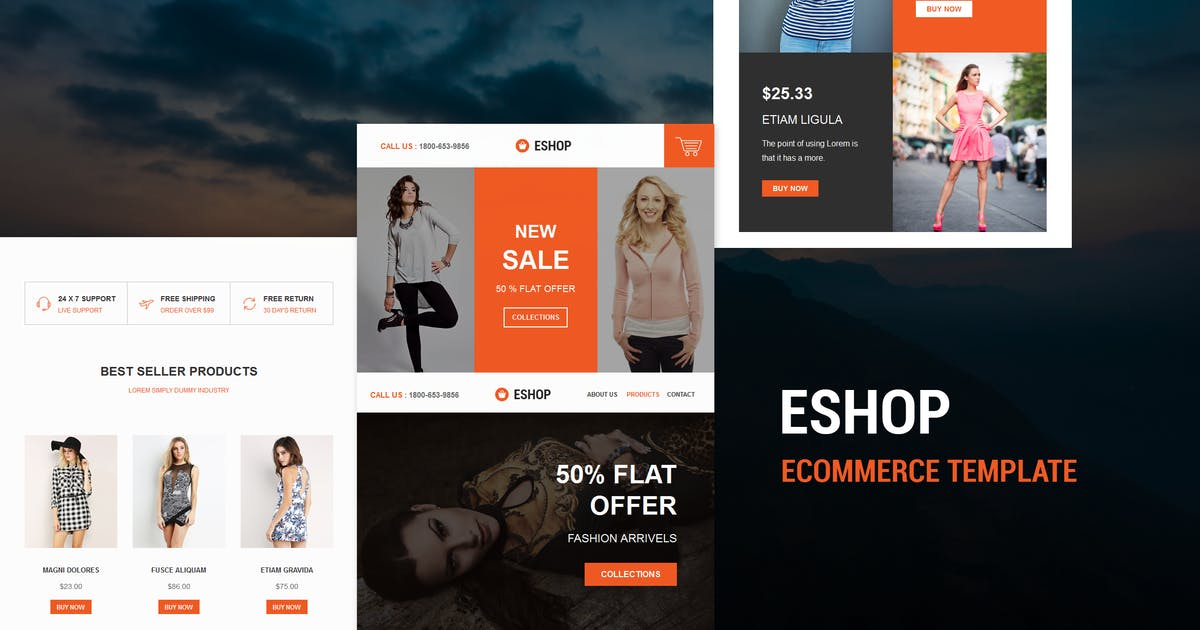 Download ESHOP - Responsive E-mail Template by williamdavidoff