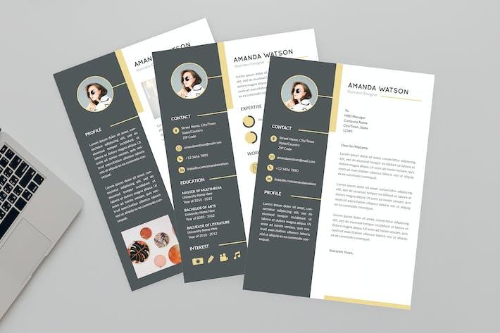 Thumbnail for Amanda Illustrator  Resume Designer
