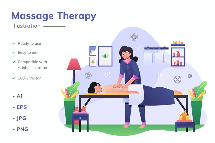 Massage-Therapie Abbildung