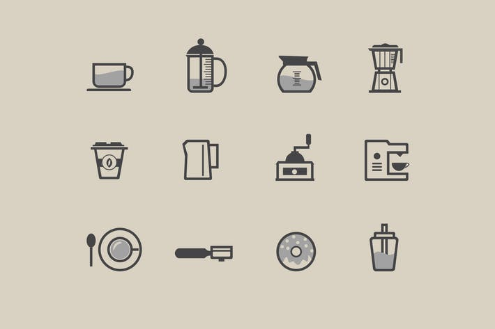 Thumbnail for 12 Coffee Icons and Symbols