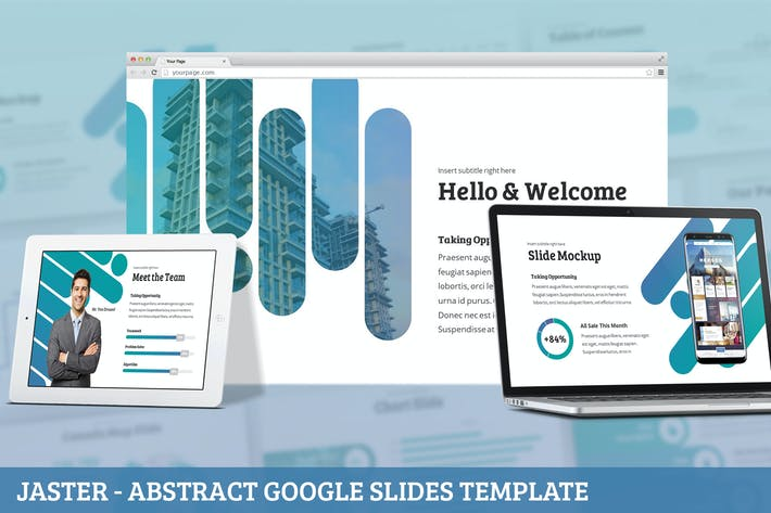 Thumbnail for Jaster - Abstract Google Slides Template