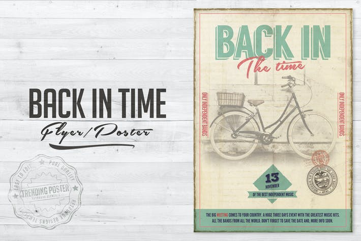 Thumbnail for Back in Time Flyer Poster